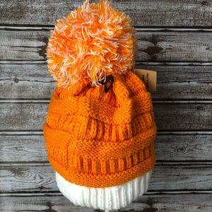 2560ea32d C.C Orange/White Beanie TN Vols or Clemson Tigers Boutique